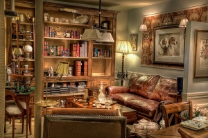 The best place to read...a comfy chair in a cozy room.